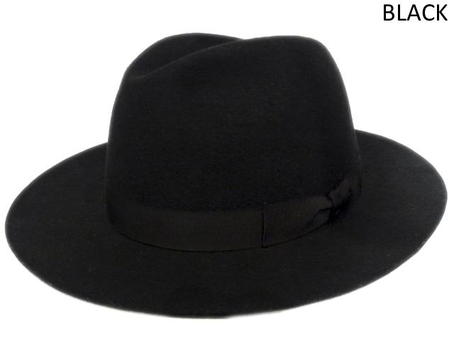 【KNOWLEDGE(ナレッジ)オリジナル】 Wide Felt Hat(日本製) カラー:ブラック