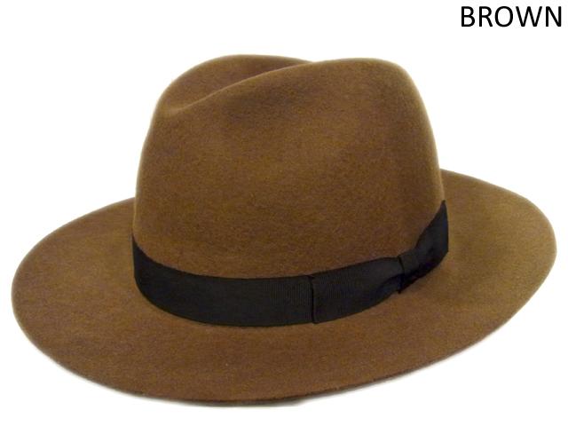 【KNOWLEDGE(ナレッジ)オリジナル】 Wide Felt Hat(日本製) カラー:ブラウン