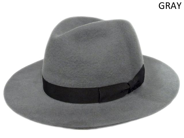 【KNOWLEDGE(ナレッジ)オリジナル】 Wide Felt Hat(日本製) カラー:グレー