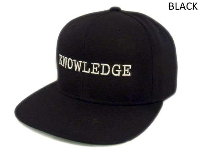 【KNOWLEDGE(ナレッジ)オリジナル】 KNOWLEDGE Baseball Cap 2015AW カラー:ブラック