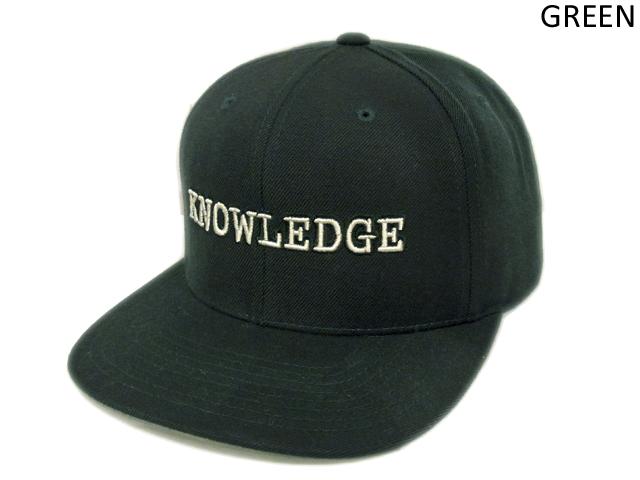 【KNOWLEDGE(ナレッジ)オリジナル】 KNOWLEDGE Baseball Cap 2015AW カラー:グリーン