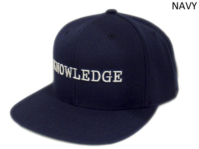 【KNOWLEDGE(ナレッジ)オリジナル】 KNOWLEDGE Baseball Cap 2015AW カラー:ネイビー