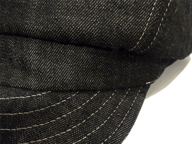 【KNOWLEDGE(ナレッジ)】 Denim Wide Casquette(日本製) カラー:ブラック