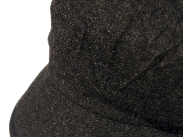 【KNOWLEDGE(ナレッジ)】 Crinkle Wide Casquette(日本製) カラー:ブラック