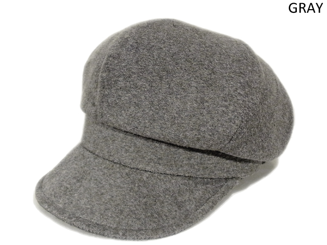【KNOWLEDGE(ナレッジ)】 Pile Wide Casquette(日本製) カラー:グレー