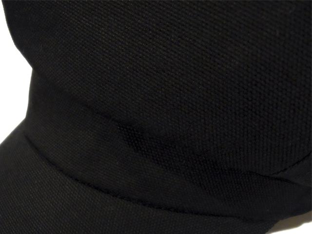 【KNOWLEDGE(ナレッジ)オリジナル】 Long Visor Casquette(日本製) カラー:ブラック