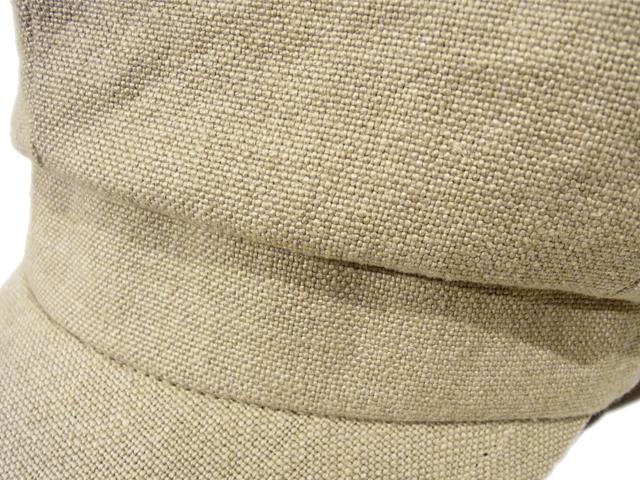 【KNOWLEDGE(ナレッジ)オリジナル】 Long Visor Casquette(日本製) カラー:ナチュラル