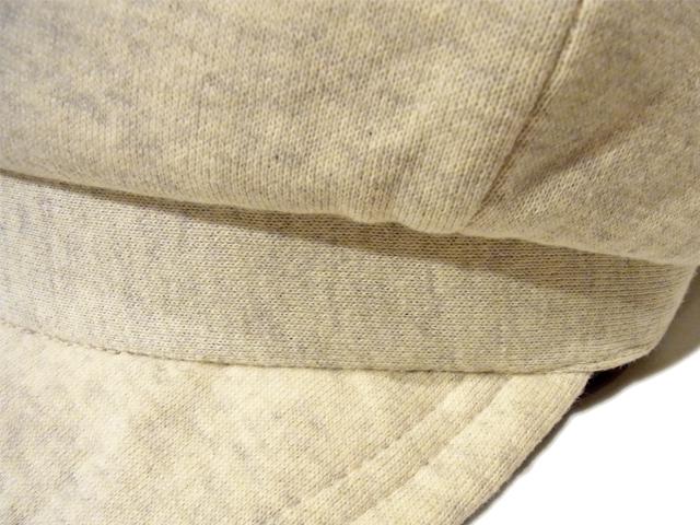 【KNOWLEDGE(ナレッジ)】 Sweat Wide Casquette(日本製) カラー:ナチュラル