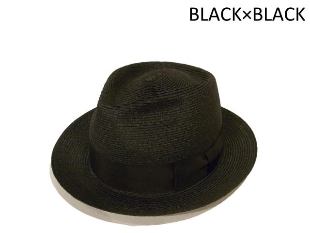 【EDHAT(エドハット)】 ABACA STANDARD(日本製) カラー:ブラック×ブラック